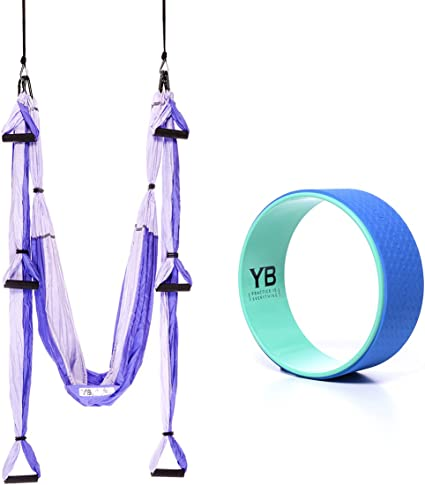 Amazon.com : YOGABODY Bundle - 2 Items: Yoga Trapeze Purple ...