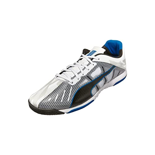c7287baa7 PUMA Neon Lite 2.0 Indoor Soccer Shoe (White Black Electric Blue ...
