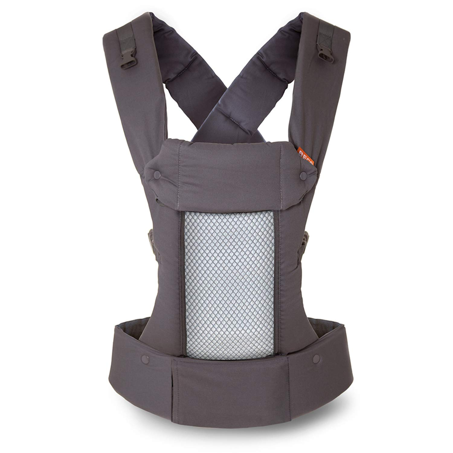 Beco 8 Baby Carrier, Cool Dark Grey – Supportive and Adaptable Carrier for Babies from 7 – 45 lbs with Convertible Cool Mesh Panel