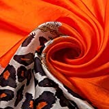 Ecowonder-Womens-Functional-Long-100-Premium-Silk-Scarf-Orange-Leopard-Printing