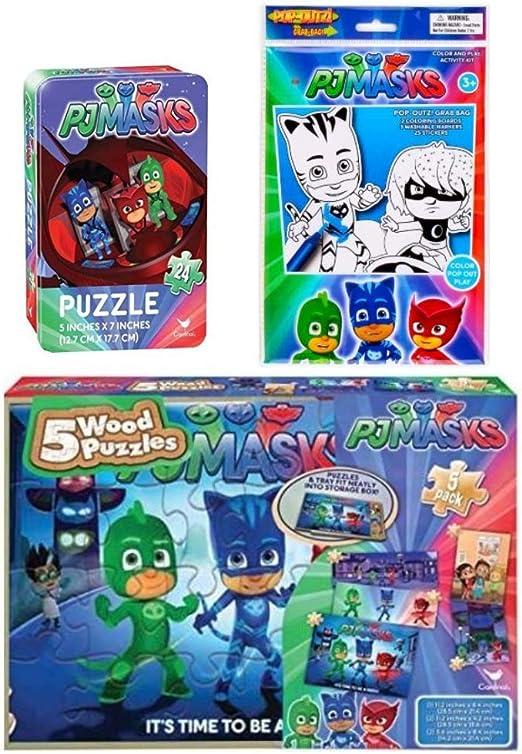 PJ Masks Actividad 3 Piezas Bundle – 5 Rompecabezas de ...