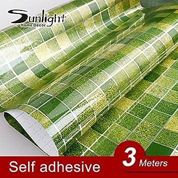 neue grün mosaik 3meter wand aufkleber pvc fliesen aufkleber ... - Pvc Wandfliesen Küche