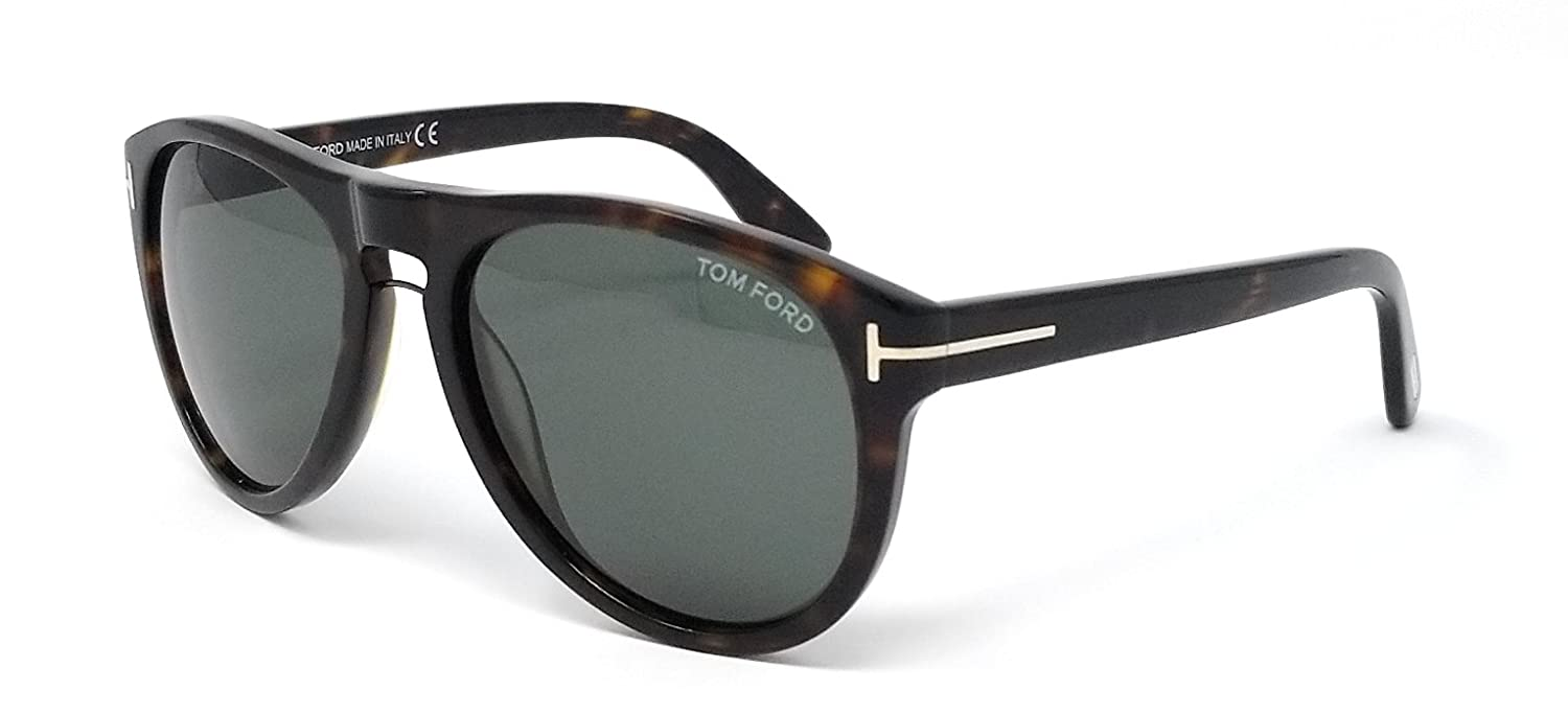 10bbfd6fe6 Sunglasses Tom Ford TF 347 FT0347 56R havana other   green polarized at  Amazon Men s Clothing store