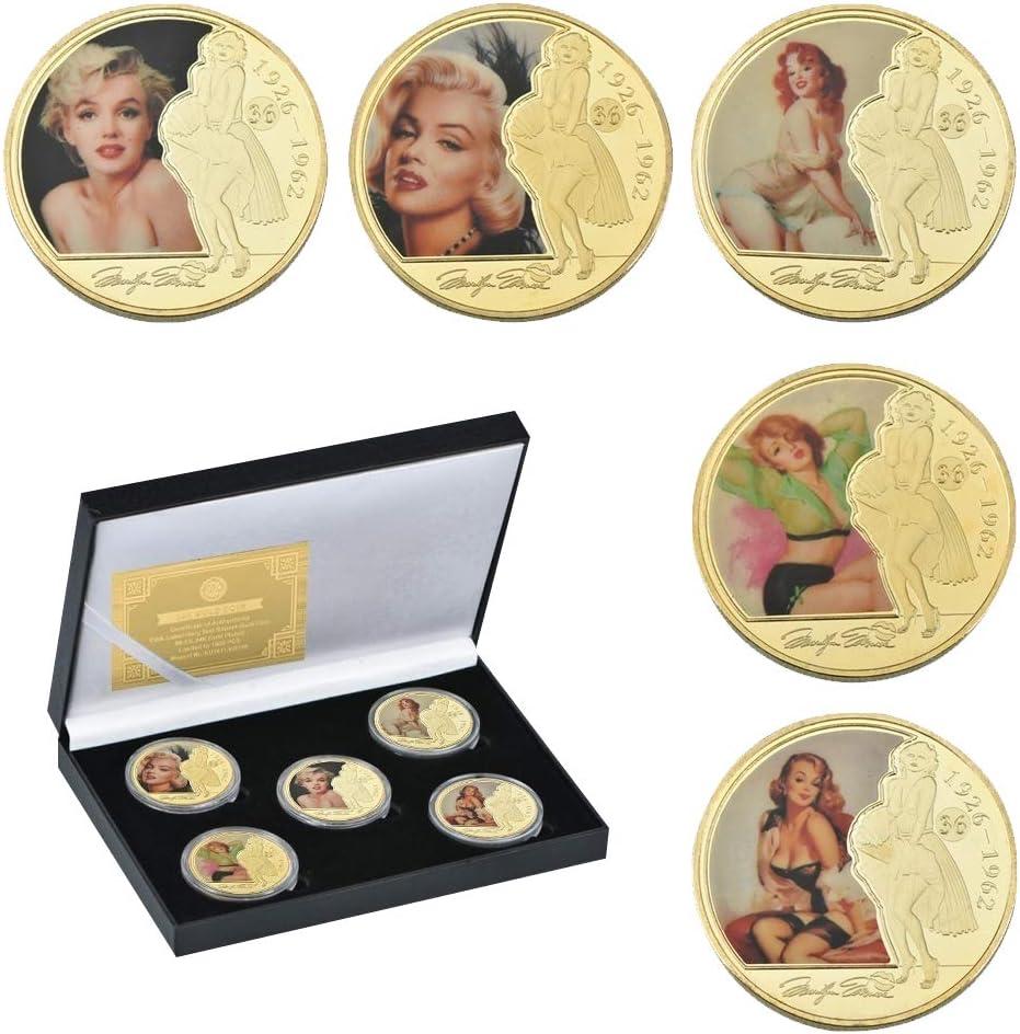 MARILYN MONROE GLAMOROUS PORTRAITS Colorized JFK Half Dollar 6-Coin Set w//Box