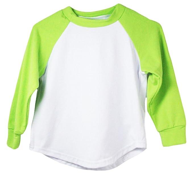 4cf290e74 Amazon.com: Lime Long Sleeve Raglan Baseball T-Shirt: Clothing