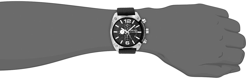 9f413c0b829a Amazon.com  Diesel Men s DZ4341 Overflow Stainless Steel Black Leather  Watch  Diesel  Watches