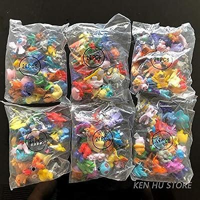 POKEEPET 144 Pcs Mini Action Figures PET Set Poke Heroes Action Figure Toy mon 2-3 cm Crazy pet Big Collection: Toys & Games
