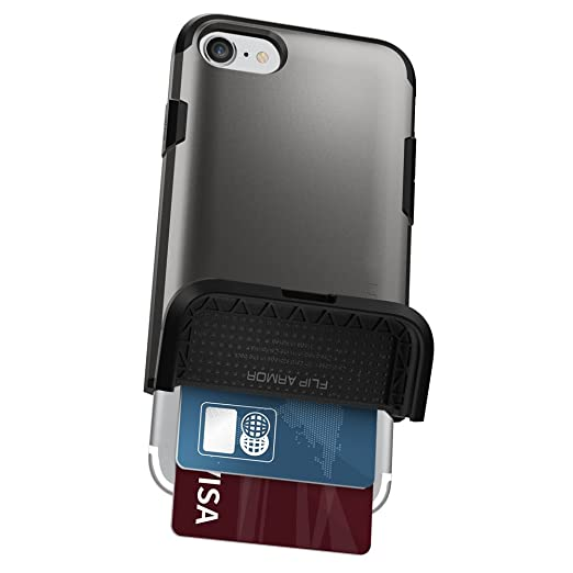 3 opinioni per Cover iPhone 7, Spigen® Cover Custodia [Flessibile Portafoglio Cover] Flip Armor