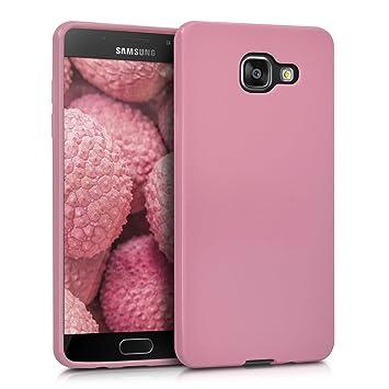 kwmobile Funda para Samsung Galaxy A5 (2016) - Carcasa para móvil en TPU Silicona - Protector Trasero en Rosa Palo