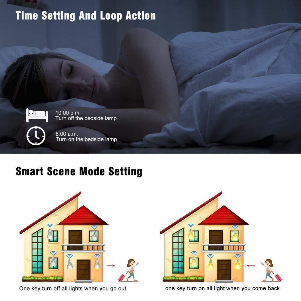 WiFi-Leuchte Smart Switch Refit von Handy-APP gesteuert Unterst/ützt  Alexa und Google Home Voice Control lā Vestmon Wireless-Licht-Zubeh/ör