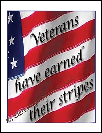 Amazon earned stripes happy veterans day card military earned stripes happy veterans day card military greeting card m4hsunfo
