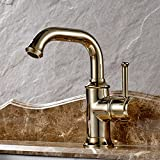 copper bar faucet single hole - Modern Deck Mount Polished Brass Finish Single Side Lever Control Bathroom Basin Faucet Single Hole Installation