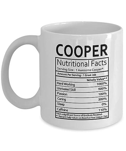 Amazon.com: Mini Cooper Gifts Cooper Nutritional Facts Label Cooper ...