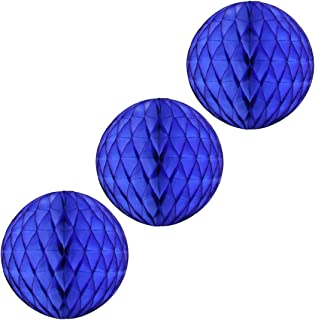 product image for Honeycomb Tissue Balls (Pack of 3) (5 Inches, Dark Blue)