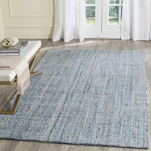 Safavieh Abstract Collection ABT141A Contemporary Handmade Blue and Multi Polyester Blend Area Rug (6' x 9')