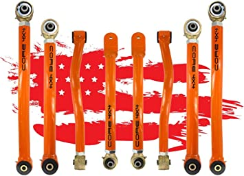 8 PCS Full Set Control Arms Upper Lower Front Rear 2007-2017 Jeep Wrangler
