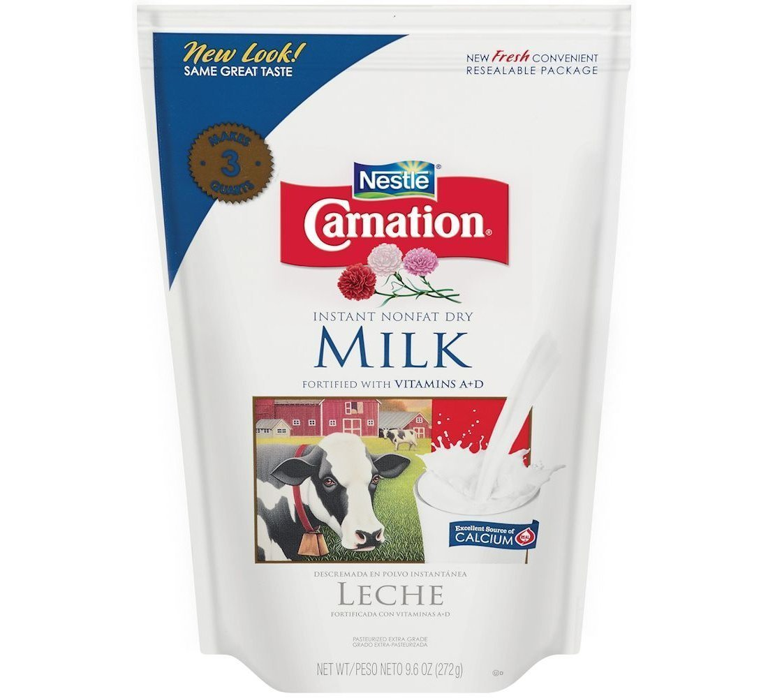 Amazon.com : Carnation Instant Nonfat Dry Milk, 9.6 Ounce - 12 per case. : Powdered Milk : Grocery & Gourmet Food