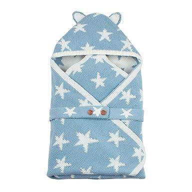 Silverone Saco De Dormir para Bebé Botones Bolsas De Dormir De Punto, Lindas Estrellas Sobre