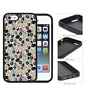 Assorted Cupcakes And Crumbs Rubber Silicone TPU Cell Phone Case Apple iPhone 5 5s