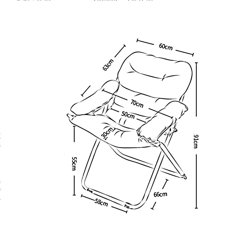 LYZZDY Yxsd lat enkel soffstol ledig hopfällbar sovsal datorstol hem sovrum modern minimalistisk balkong vilstol (färg: C) D