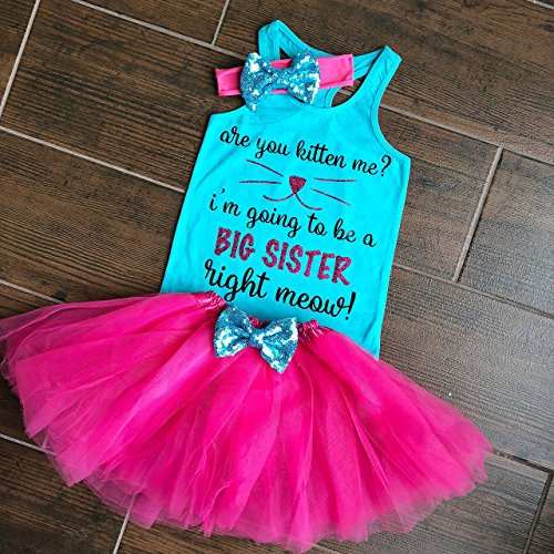 Big Sister Shirt Big Sister Cat Shirt Are you Kitten me? I'm going to be a Big Sister Sibling Shirts Sister Pregnancy Announcement Shirt by Oliver and Olivia Apparel