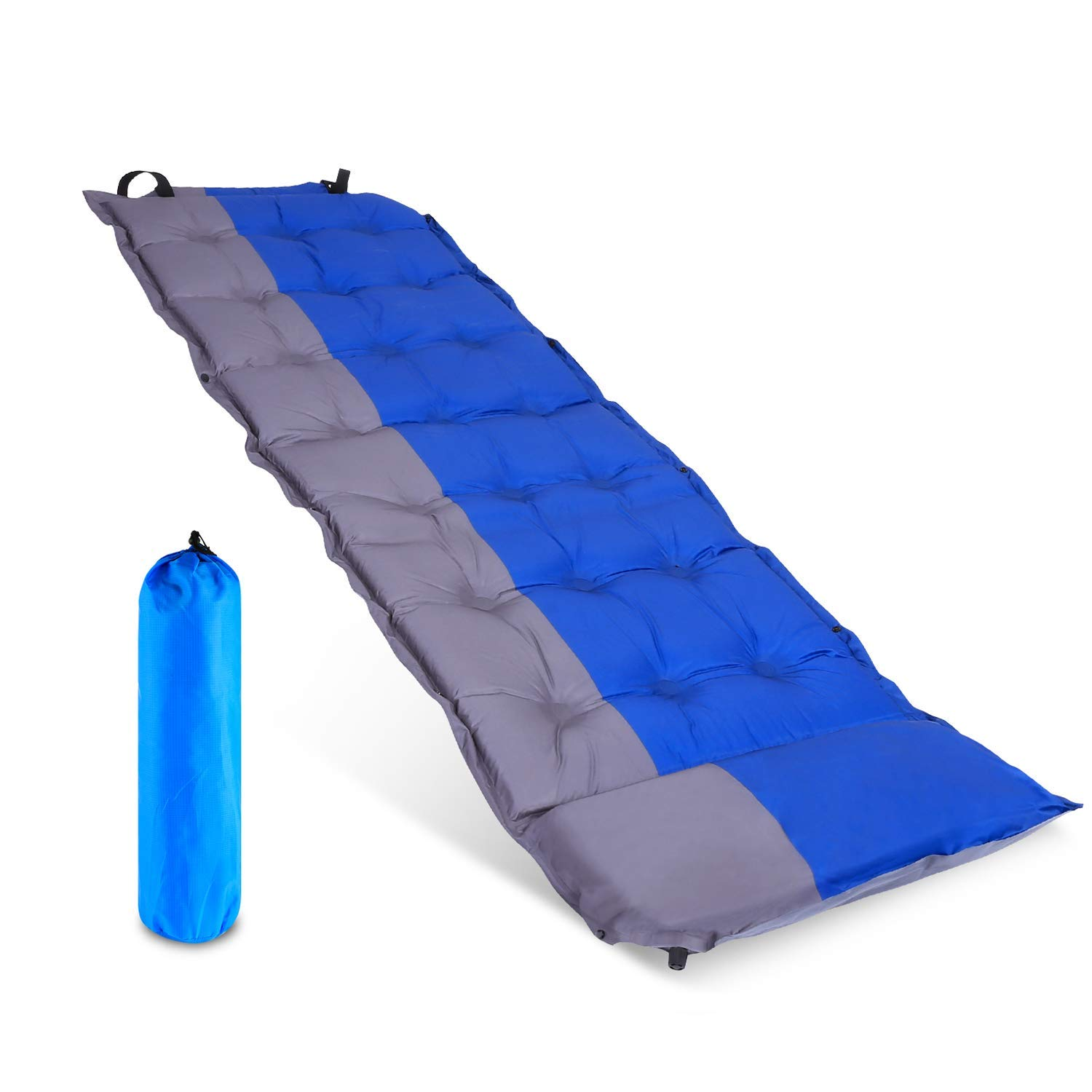 Sleeping Pad with Attached Pillow, Self Inflating Sleeping with Backpacking Pad, Hiking Lightweight Inflatable Foam Padding Sleeping Mat for Camping Backpacking Hiking [並行輸入品] B07R3Y735K, 管楽器のマールミュージック:40e01345 --- anime-portal.club