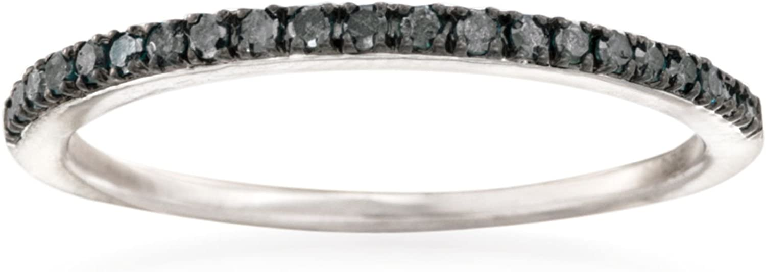 Ross-Simons 0.15 ct. t.w. Black Diamond Anniversary Ring in Sterling Silver