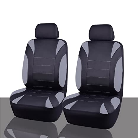 CAR PASS Neoprene 6 Pieces Waterproof Two Front Seat Car Covers Set