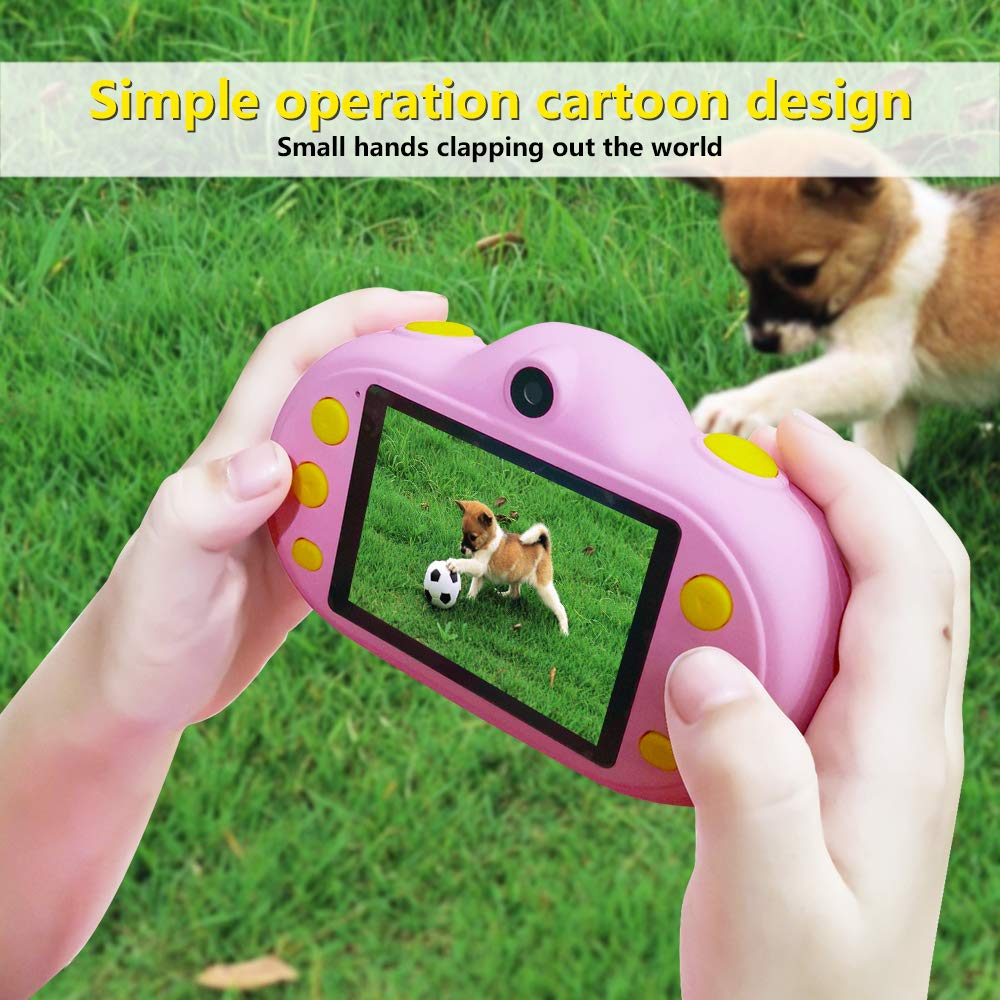 Huaker Kids Camera ,2.4Inch Screen Digital Camcorders Camera Rechargeable 8MP Children's Camera with Silicone Soft Cover for 3-10 Year Old Boys Girls Party Outdoor Play by Huaker (Image #8)