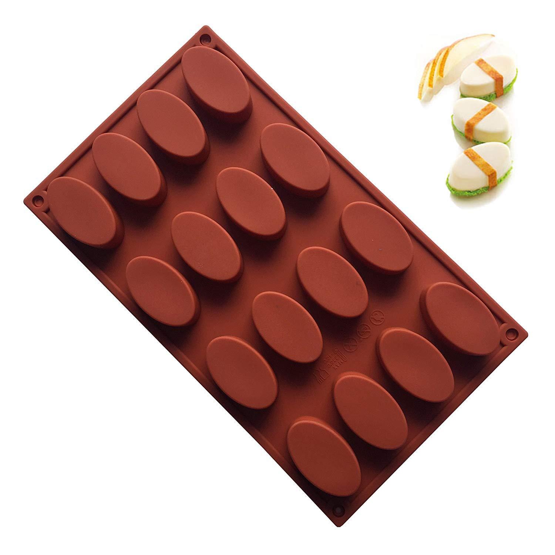 OOTSR Moldes para Pastel de Silicona con Conejos 3D para Mousse para Hornear Fondant de Chocolate Fondant de Jalea Dulces Postres Pasteler/ía Molde para la Fiesta de a/ño Navidad Blanco