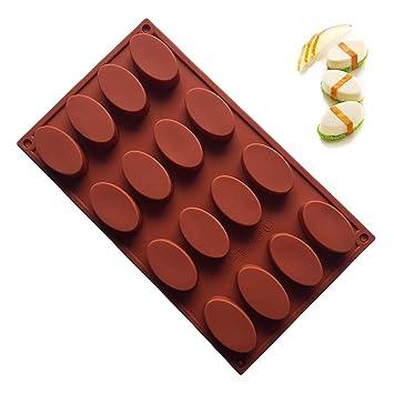 JasCherry Moldes de Silicona para Tartas, Chocolate, Caramelo, Jalea y Hielo #3: Amazon.es: Hogar