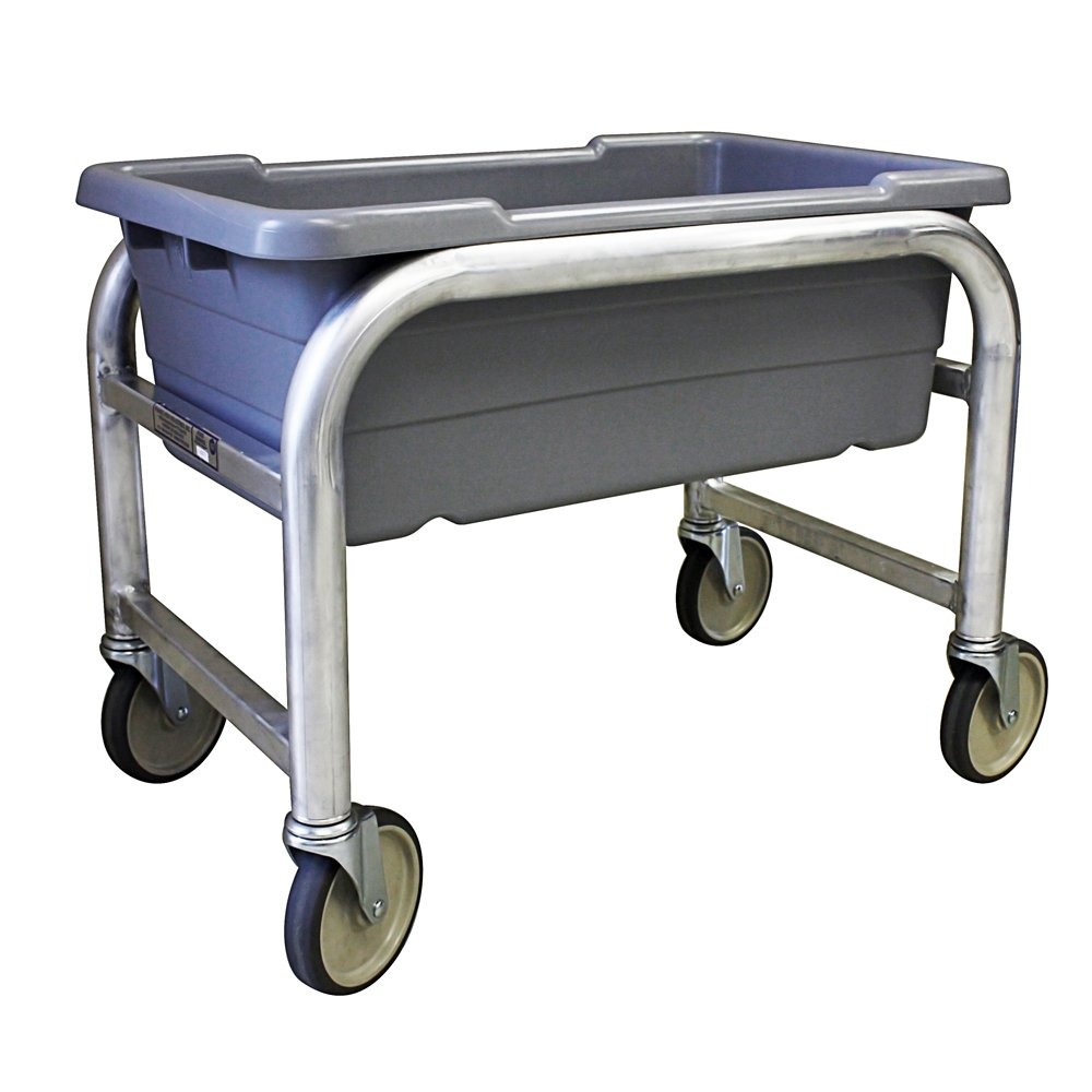 UltraSource Industrial Poly Tote Carts, 1 Tier Capacity