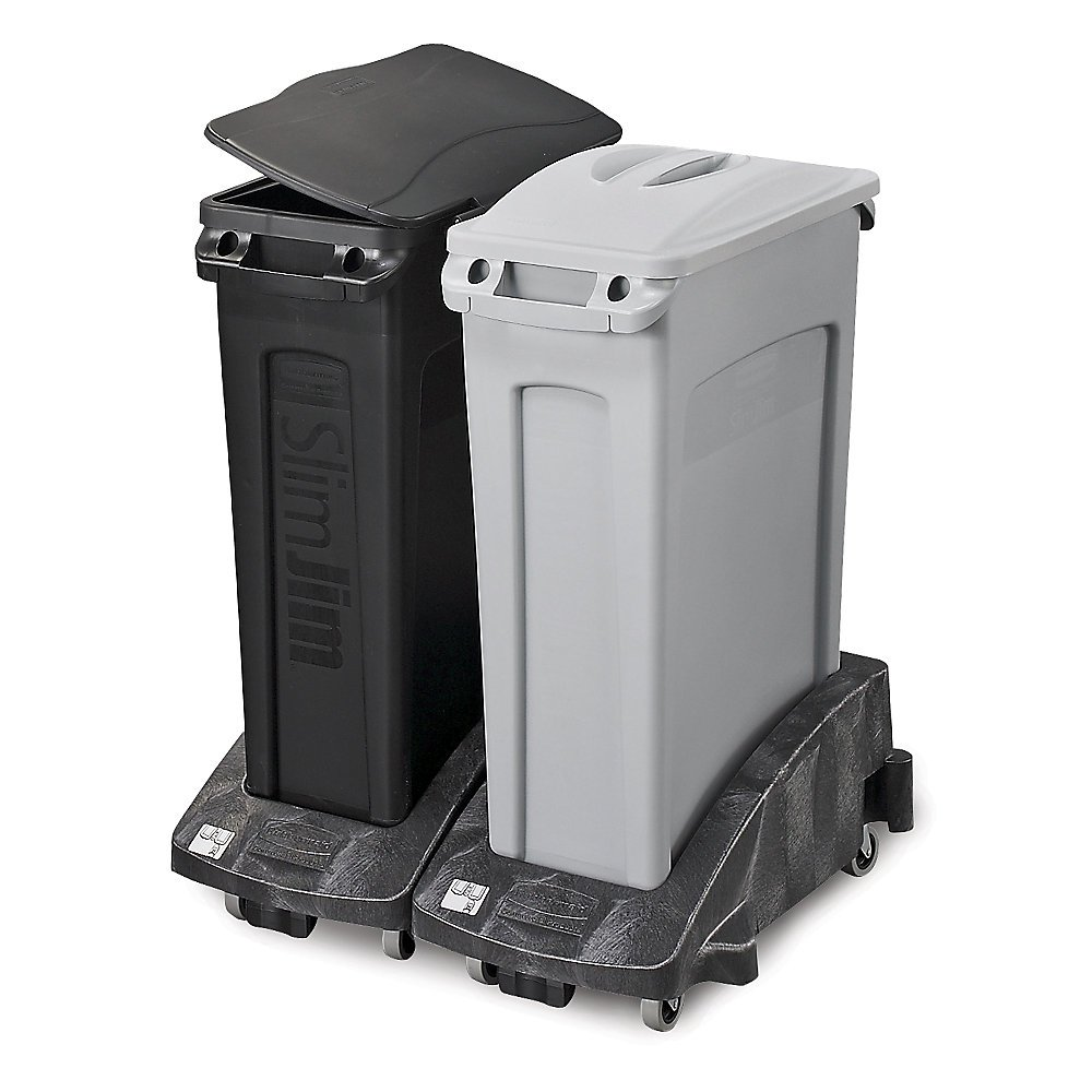 Rubbermaid Slim Jim Container - Vented Base - 23-Gallon Capacity - Light Gray - Light Gray
