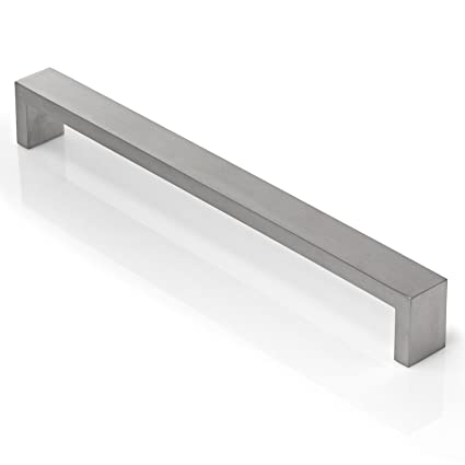 cauldham solid stainless steel cabinet hardware square handle pull rh amazon com Stainless Steel Cabinet Bar Pulls Cabinet Bar Pulls
