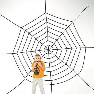 JUMBO 11FT PLUS HALLOWEEN CREEPY SPIDER WEB!: Toys & Games