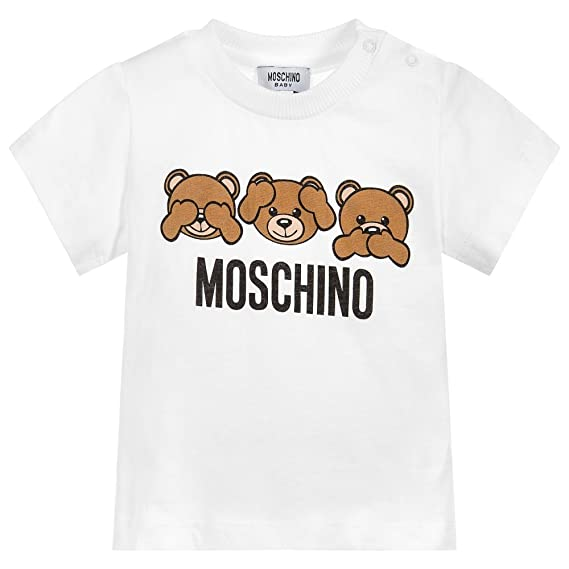 7cba9d0d235788 Moschino T-Shirt Bianca Con Orsacchiotti 12M: Amazon.co.uk: Clothing
