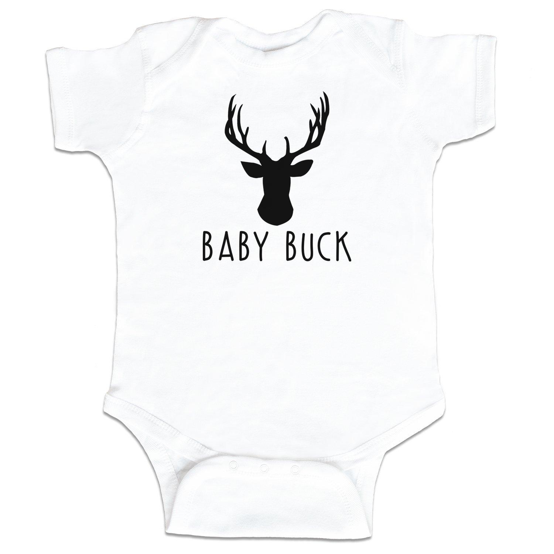 Amazon.com: Bebé Buck Ciervo Caza Funny Baby Boy Bodysuit ...