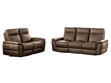 Terrific Amazon Com Obara 2Pc Power Double Reclining Sofa Double Bralicious Painted Fabric Chair Ideas Braliciousco