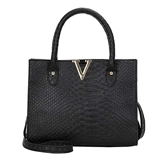 dd012dff0064 Rakkiss Woman Crossbody Bags Leather Pure Color Handbag Alligator Pattern  Casual Large Capacity Shoulder Bag (