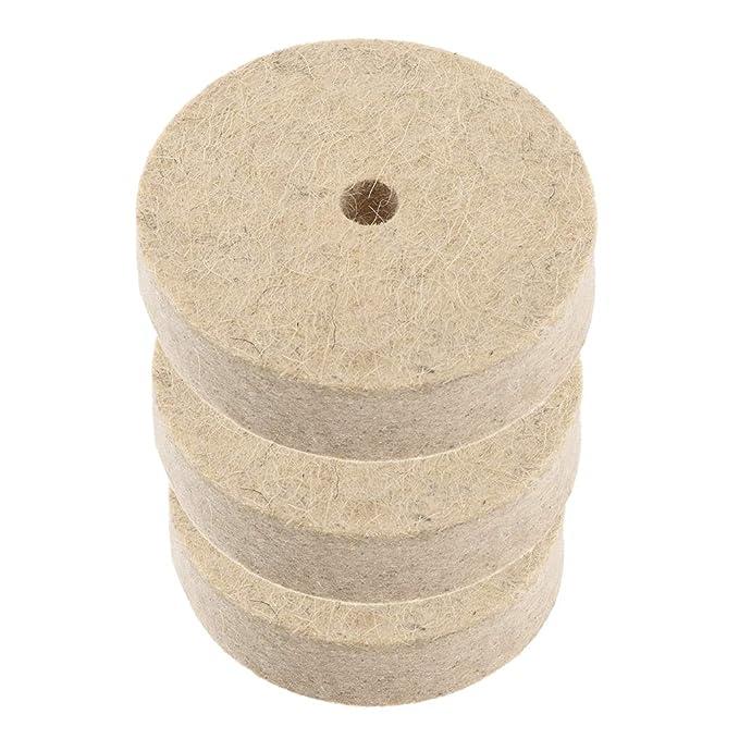 LOVIVER 3 Piezas Muela Abrasiva Rueda de Pulido Fibra de Nylon para Amoladora de Banco
