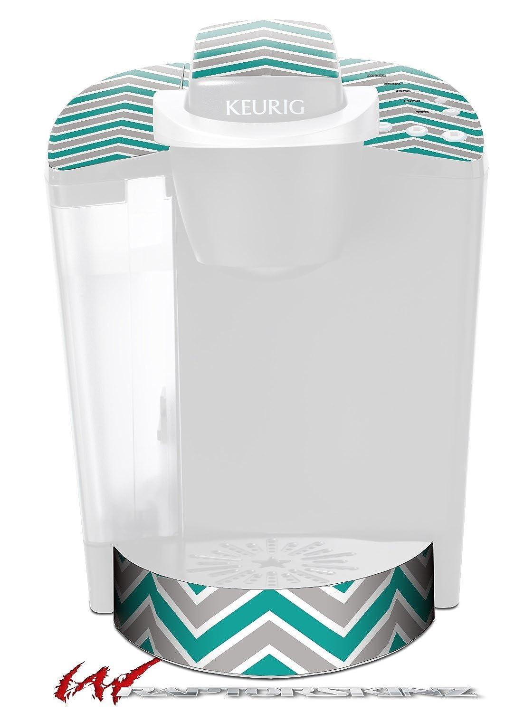 Zig Zag Teal and Gray – デカールスタイルビニールスキンFits Keurig k40 Eliteコーヒーメーカー( Keurig Not Included )   B017AK5WPU