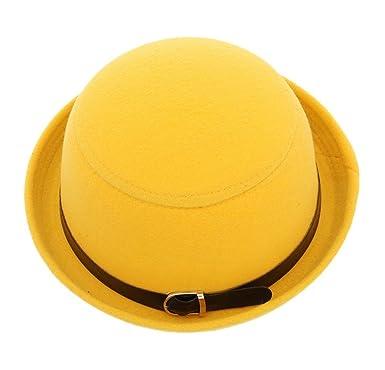 Image Unavailable. Image not available for. Colour  Bigood Women Trendy Roll  Brim Buckle Bowler Hat ... ec149cc72815
