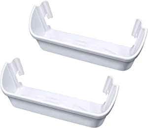 2 pack 240323001 Refrigerator Door Bin, Refrigerator Side Shelf Replacement Part, (15.75in long), Fit for frigidaire kenmore, Replace AP2115741, PS429724, AH429724, 240323007, (DON'T fit freezer door)