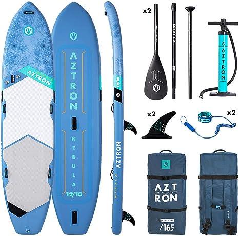 Aztron Nebula Tabla de Paddle Surf Hinchable 2+1 Personas Premium ...