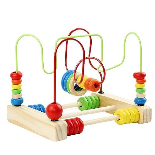 happy cherry juguetes educativos de cuentas madera para apilar contar para nios bebs amazones juguetes y juegos