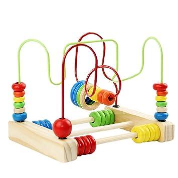 happy cherry juguetes educativos de cuentas madera para apilar contar para nios bebs
