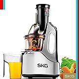 "SKG Wide Chute Anti-Oxidation Slow Masticating Juicer (240W AC Motor, 60 RPMs, 4"" Big Mouth) - Vertical Masticating Cold Press Juicer"