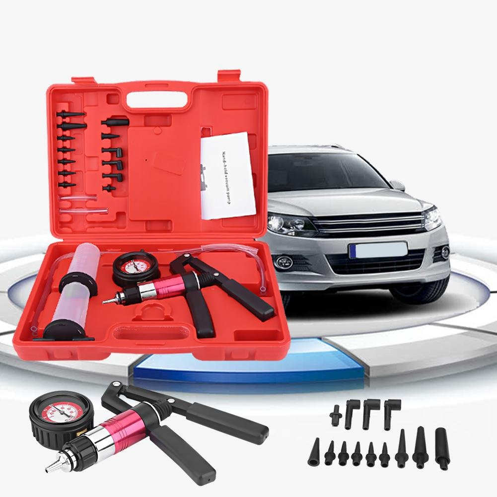 Tester Manual de Cuna Bomba de vac/ío para Camiones Frenos /Frenos GOTOTOP Bomba de vac/ío con 13/Adaptadores Kit/