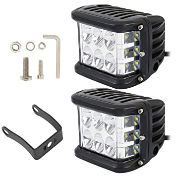 BOTTLEWISE 2pcs Focos de Coche 6 LED Potentes 9000LM 4in 90W Resistente al agua IP68 Blanco