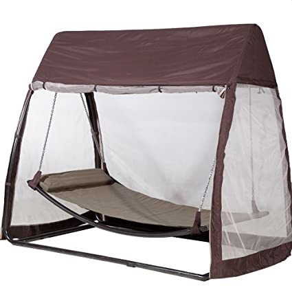Abba Patio Outdoor Canopy Cover Hanging Swing Hammock with Mosquito Net 7.6x4.5x6.  sc 1 st  Amazon.com & Amazon.com : Abba Patio Outdoor Canopy Cover Hanging Swing Hammock ...